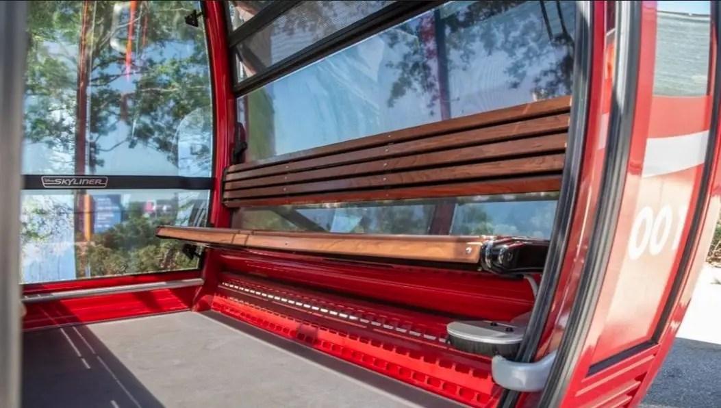 Interior Look of a Gondola on Disney's Skyliner