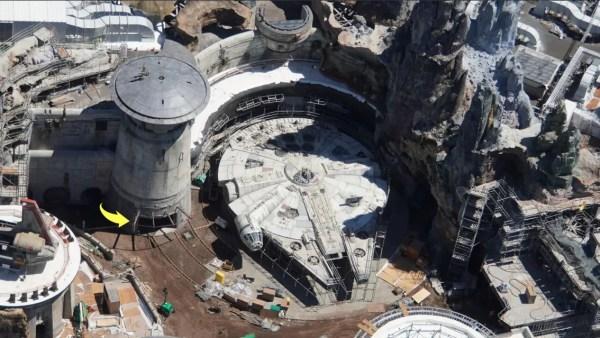 Aerial Views Of Star Wars Galaxy S Edge In Walt Disney World