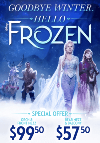 Disney's Frozen the Musical now offering 25% off 1