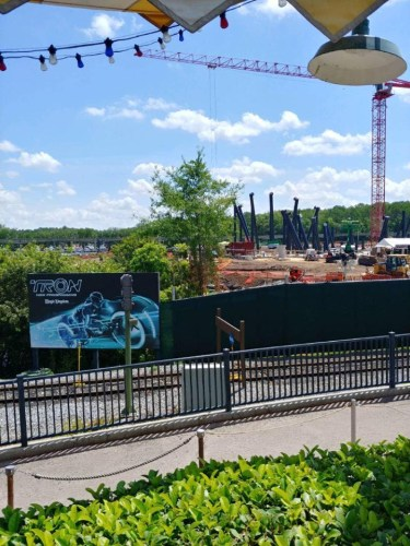 TRON coaster support beams now visible in Magic Kingdom