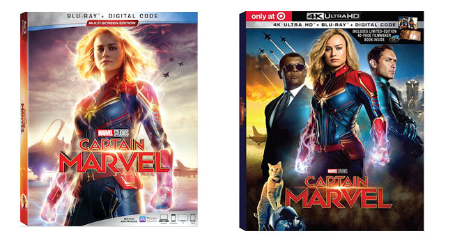 Captain Marvel blasts to Digital on May 28th and Blu-ray on June 11th
