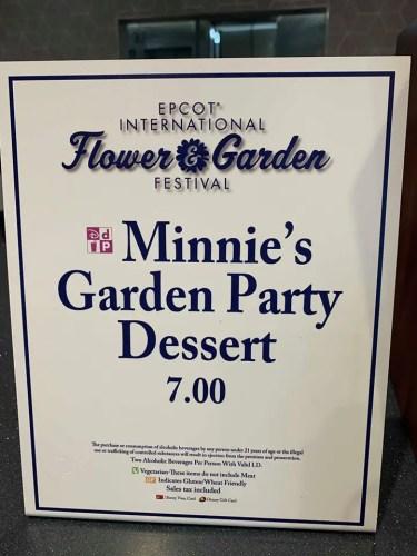 Minnie's New Garden Party Dessert 3