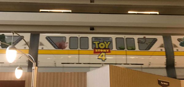 New Toy Story 4 Monorail Wrap shows up at Disney World 1