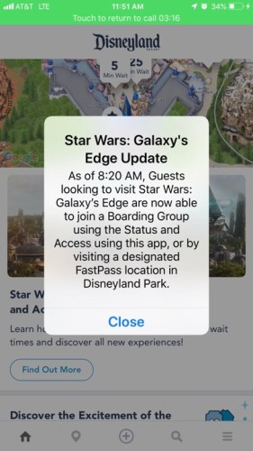 Star Wars Galaxy's Edge reservations are no longer needed 2