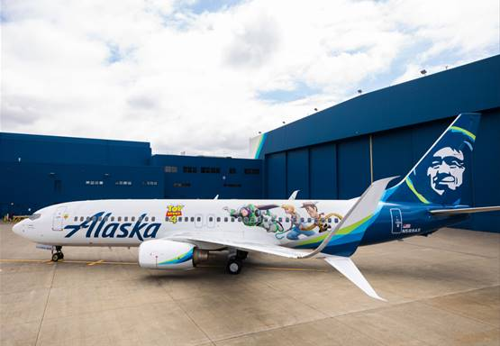 "Alaska Airlines gets animated with themed aircraft featuring artwork from Disney and Pixar's ""Toy Story 4"""