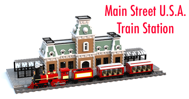 LEGO Ideas: Main Street U.S.A. Train Station LEGO Project
