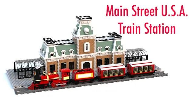 LEGO Ideas: Main Street U.S.A. Train Station LEGO Project 1