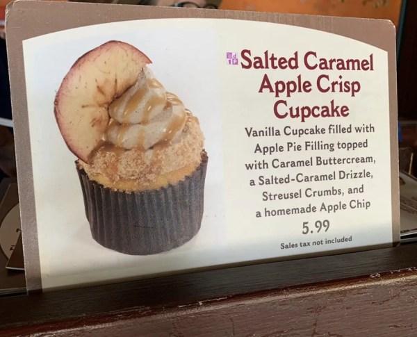 Salted Caramel Apple Crisp Cupcake At Animal Kingdom