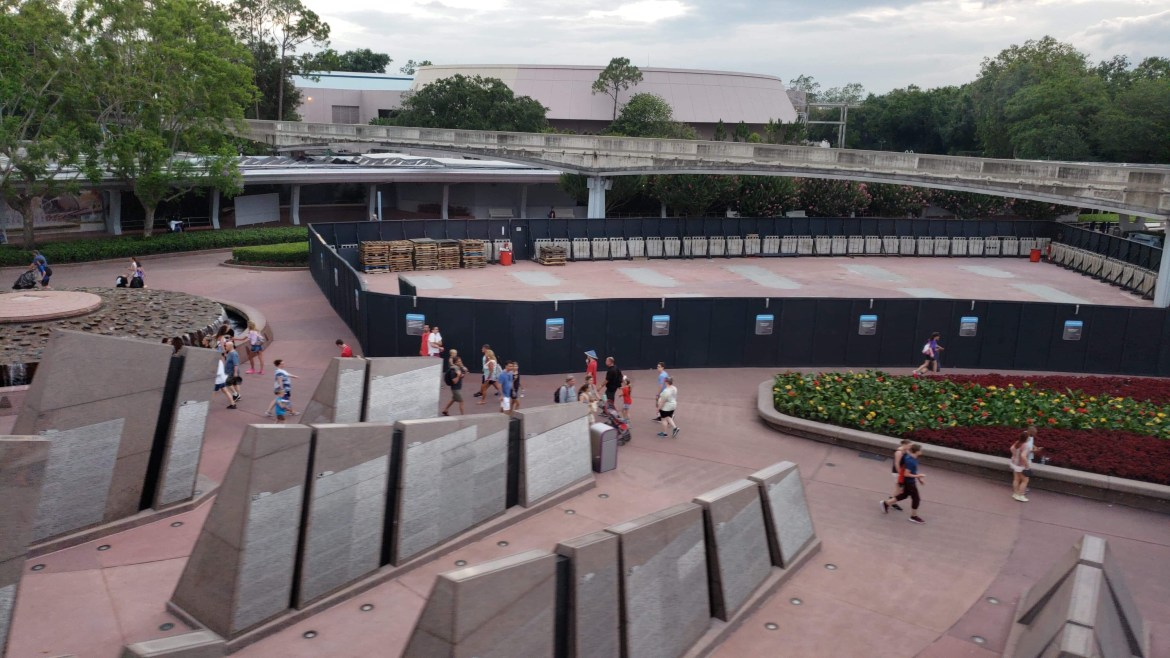 Leave a Legacy Removal Underway at Epcot