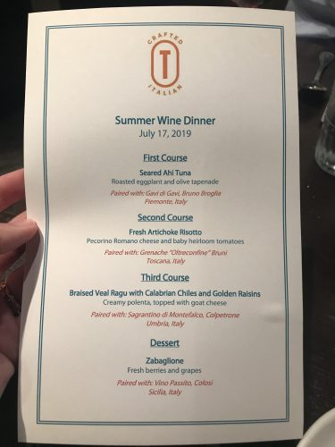 Our Dining Experience at Terralina Crafted Italian's Four-Course Wine Dinner 2