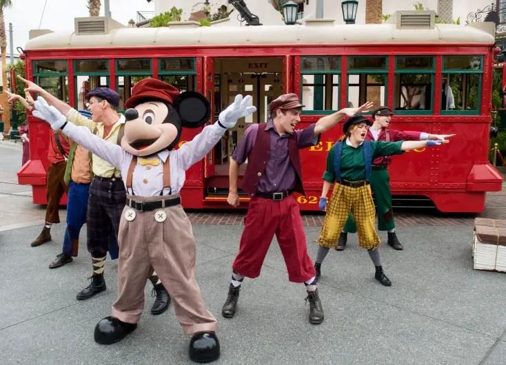 Disneyland Eliminates the Red Car News Boys Trolley Show
