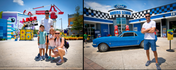 NASCAR Driver Aric Almirola Celebrated Independence Day With Family at LEGOLAND Fl 1
