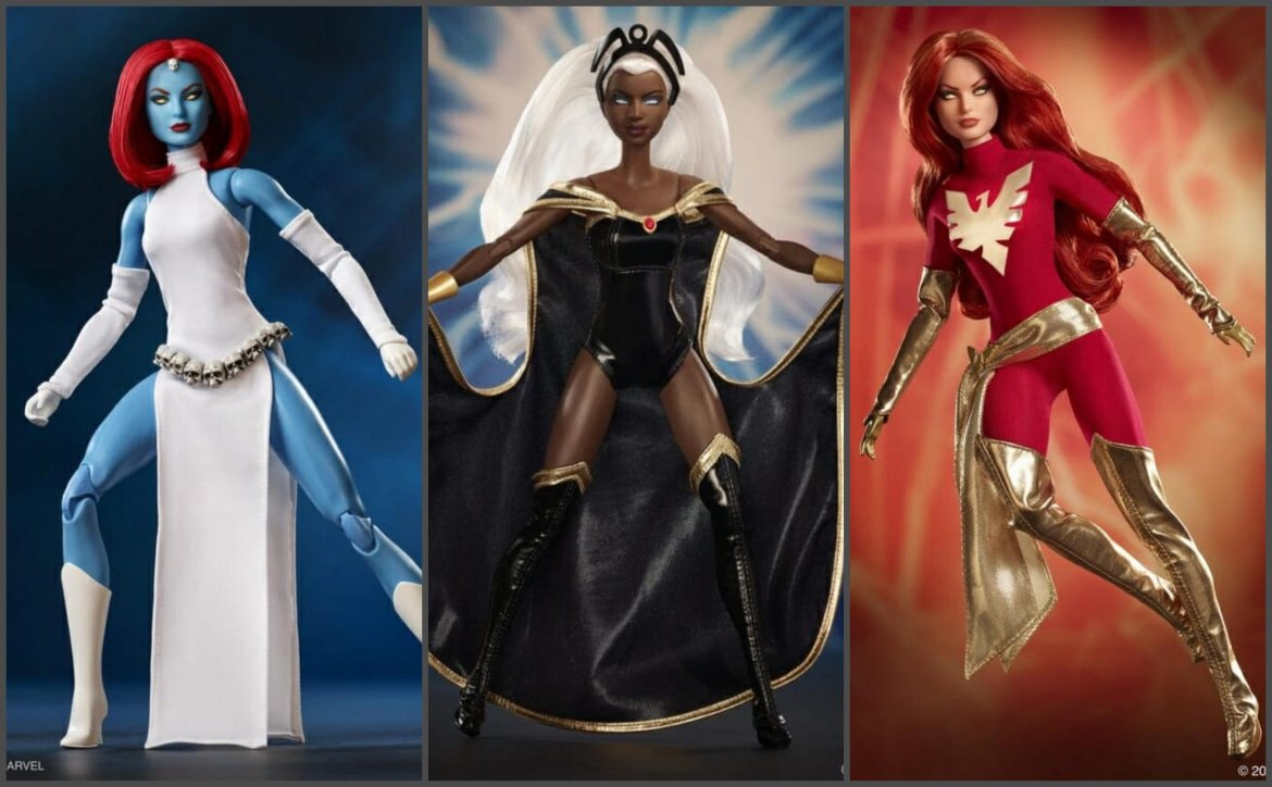 Marvel and Mattel Present X-Men Comics Barbie Dolls