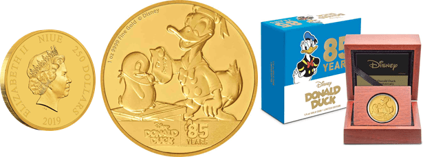 Donald Duck 85th Anniversary Coin Collection From New Zealand Mint 2