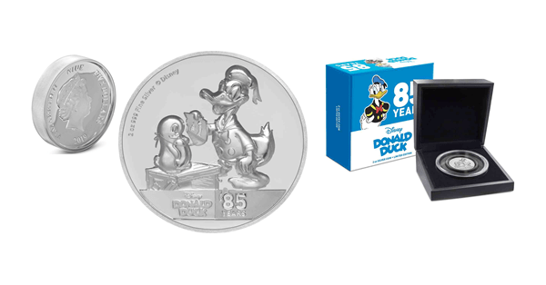 Donald Duck 85th Anniversary Coin Collection From New Zealand Mint