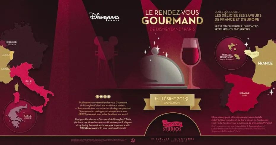 Disneyland Paris Reveals the Menus for Le Rendez-Vous Gourmand!