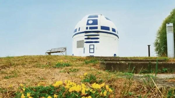 Mega Star Wars Fan and German Professor Paints Observatory Like R2-D2 7