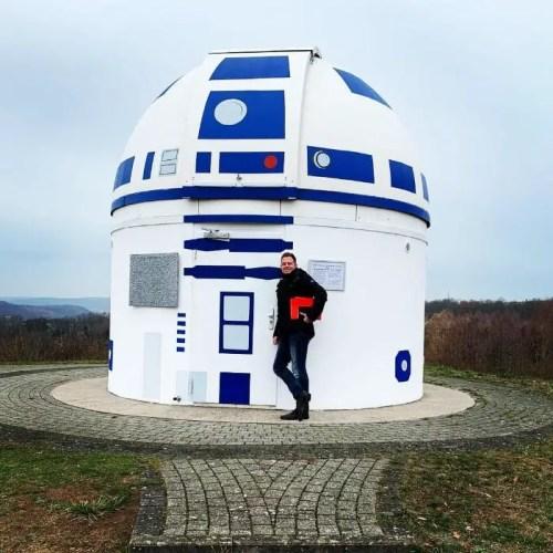 Mega Star Wars Fan and German Professor Paints Observatory Like R2-D2 10