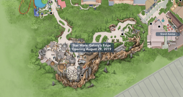 Star Wars Galaxy's Edge added to Hollywood Studios Interactive Park Map 1