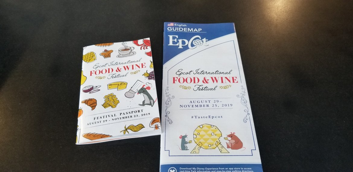 Epcot Food & Wine Festival Map and Passport for 2019