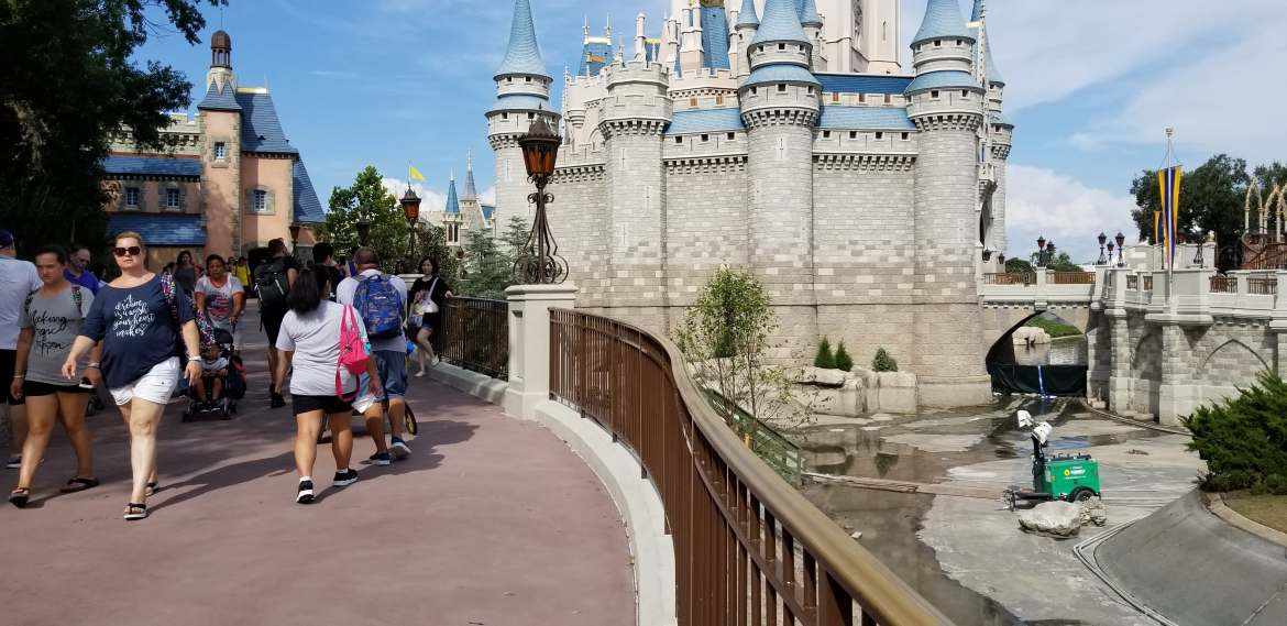 Walt Disney World Magic Kingdom Pathway Expansion Construction