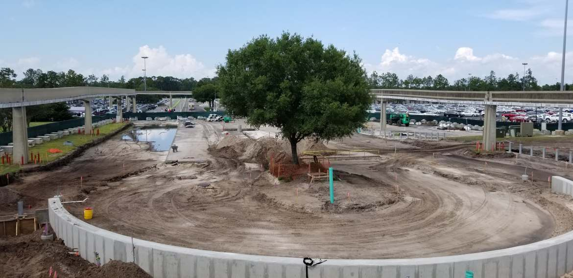 Walt Disney World Epcot Entrance Construction Begun!