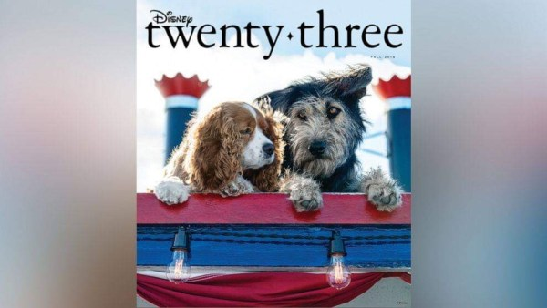 'Lady and the Tramp' Are Dog-Gone Adorable on the Fall Cover for D23 1