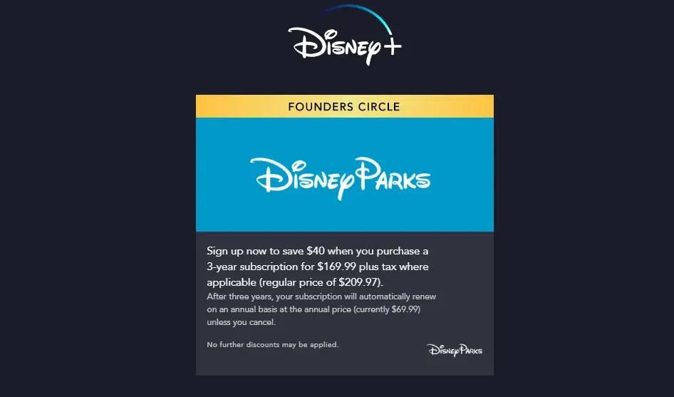 Special Disney+ Offer for Fans of Disney Parks