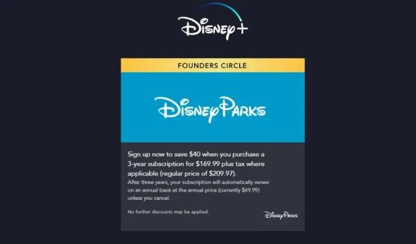 Special Disney+ Offer for Fans of Disney Parks 1