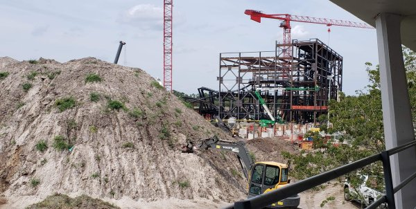 Tron Coaster Construction Update from the Magic Kingdom 1