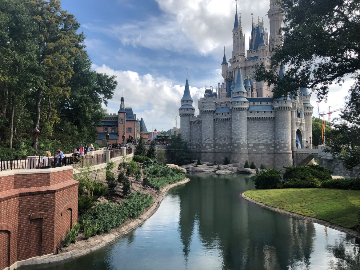 Moat Near Cinderella's Castle in Magic Kingdom Refilled