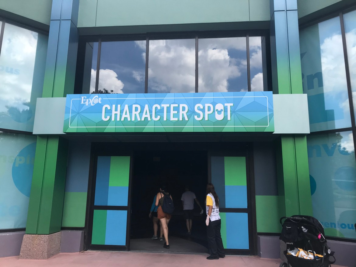 Epcot's Character Spot Has A New Temporary Location
