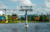 Walt Disney World New Transportation Skyliners In Flight!