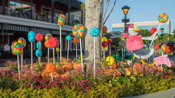 A Behinds The Scenes Look At The Fall Decor At Downtown Disney