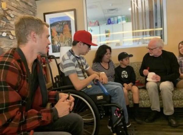 'Emperor Palpatine' and 'Anakin Skywalker' From Star Wars Visit Children's Hospital 2