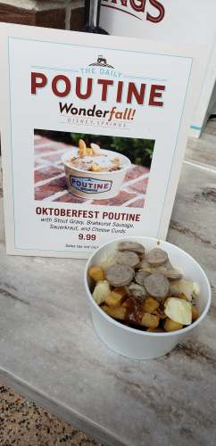 New Oktoberfest Fries are at The Daily Poutine in Disney Springs 1