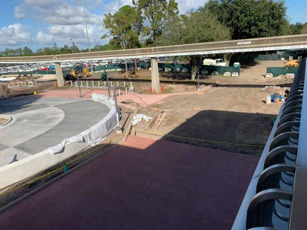 Update: Construction at the Epcot Tram Area 2