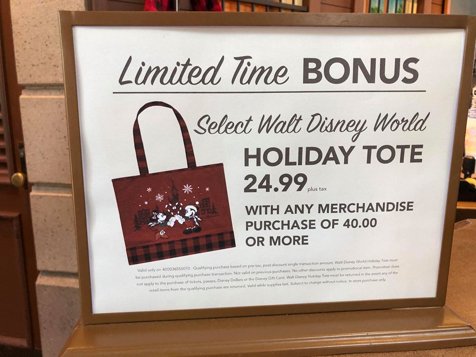 New Limited Edition Disney Holiday Tote Purchase With Purchase 2