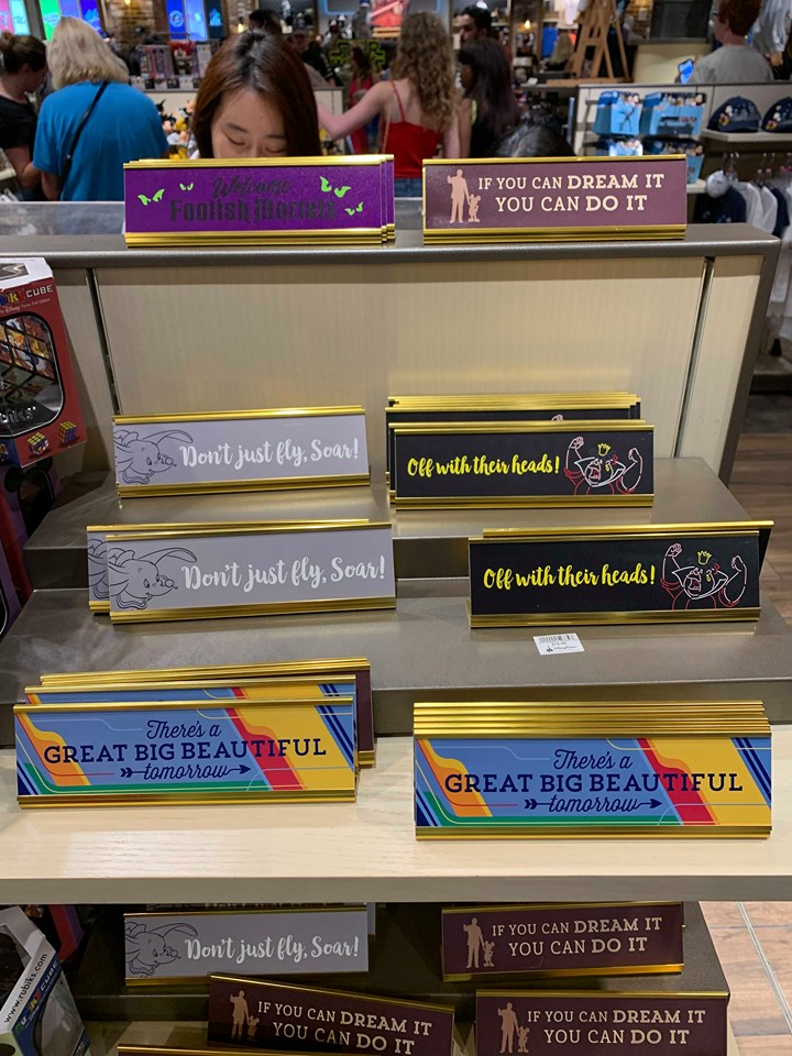 Disney Parks Desk Signs Add A Touch Of Magic To your Work Space 1