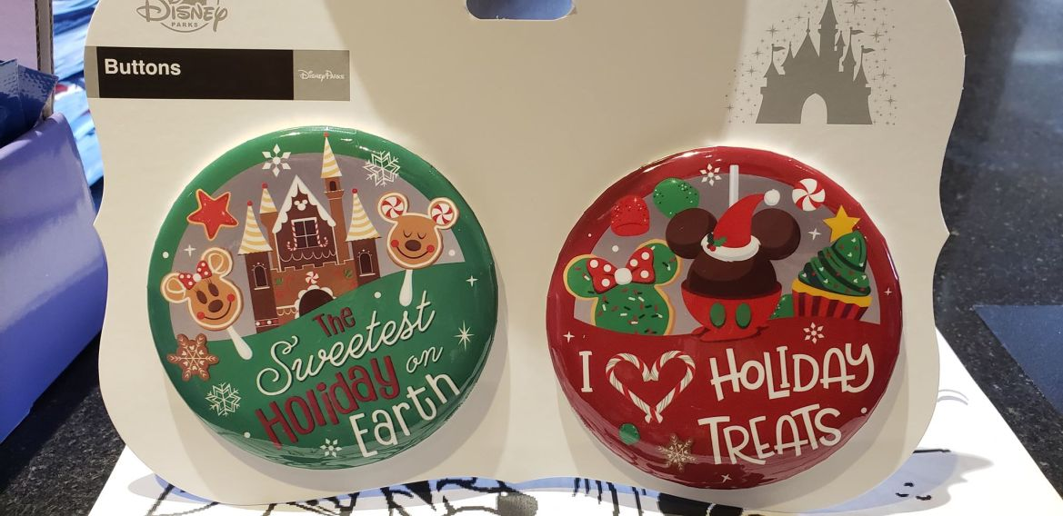 New Disney Holiday Celebration Buttons Have Arrived At The Disney Parks
