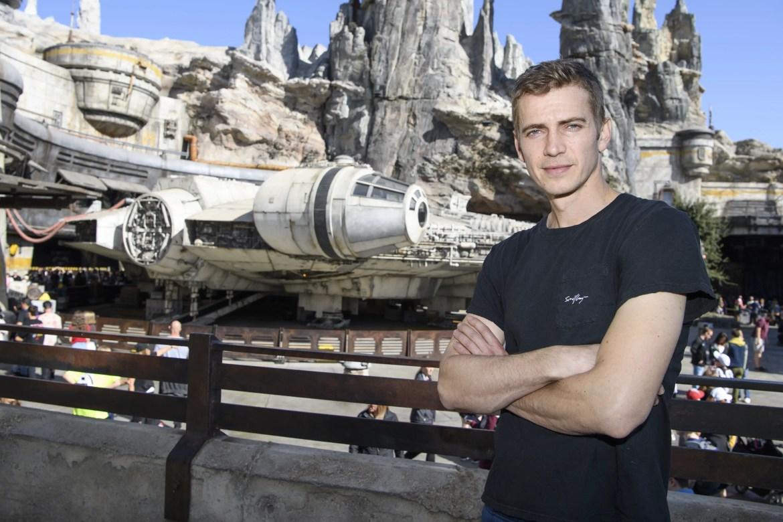 Hayden Christensen Visits Star Wars: Galaxy's Edge at Disneyland for the First Time