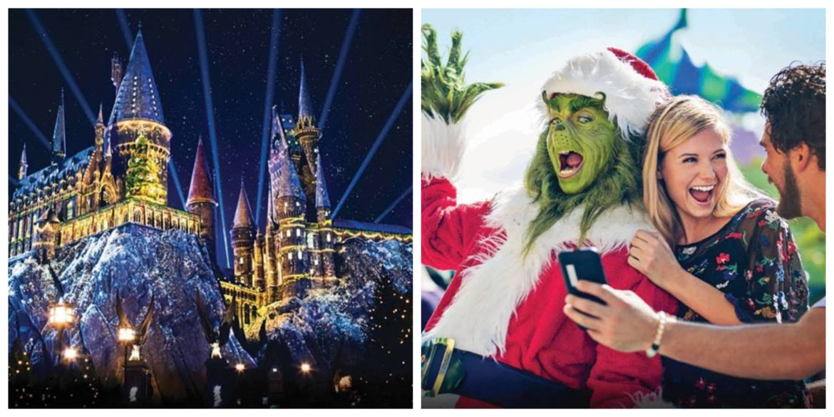 """Universal Studios Hollywood Celebrates """"Christmas in The Wizarding World of Harry Potter"""" and """"Grinchmas,"""" Beginning Thursday, November 28 through December 29"""