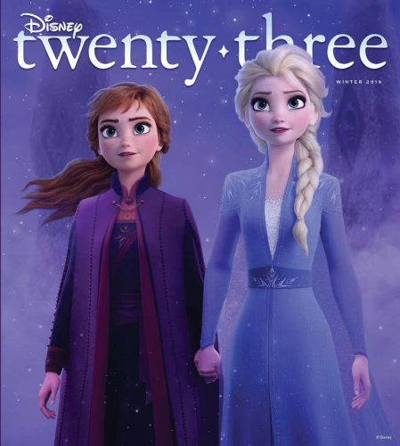 Anna and Elsa From 'Frozen II' Featured on D23 Winter 2019 Magazine Cover 2