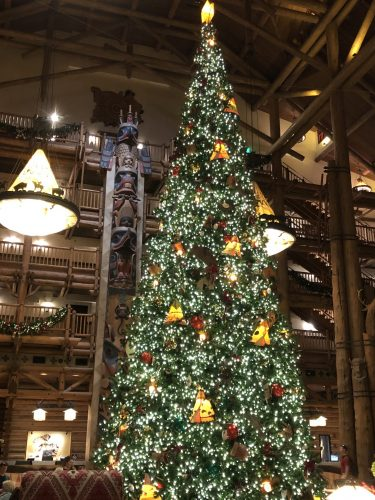 The Christmas Tree at Disney's Wilderness Lodge 1
