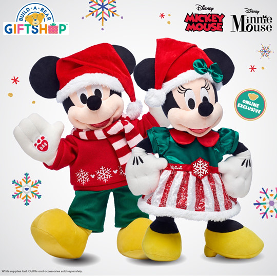 New Seasonal Mickey And Minnie Collection From Build-A-Bear 1