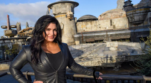 'The Mandalorian' Star Gina Carano Visits Star Wars: Galaxy's Edge at Disneyland