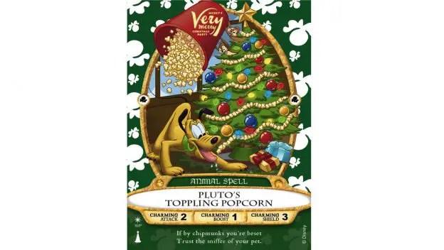 Pluto's Toppling Popcorn Sorcerers of the Magic Kingdom Card Sneak a Peek
