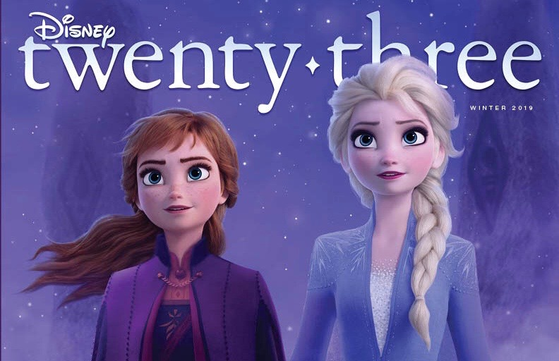 Anna and Elsa From 'Frozen II' Featured on D23 Winter 2019 Magazine Cover