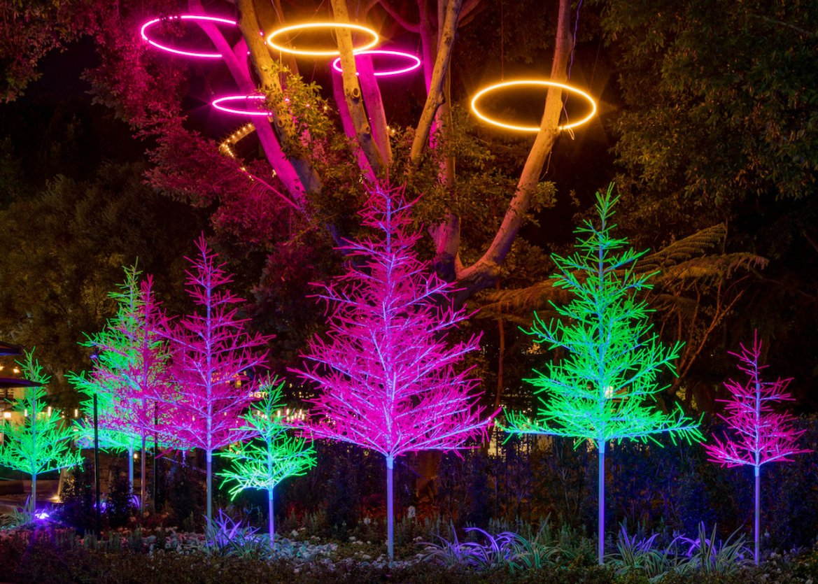 New 'Let it Glow' Trees Light Up the Downtown Disney District at Disneyland