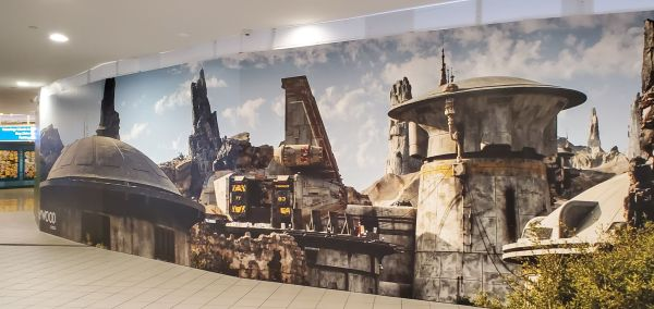 Star Wars Wall Wrap Spotted at Orlando Airport at the Disney Earport
